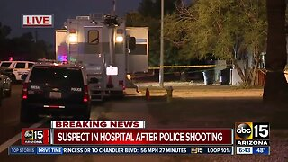 Suspect in hospital after police shooting