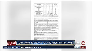 City of Cape Coral to discuss removing certain building height restrictions