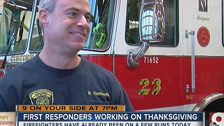 First responders working on Thanksgiving