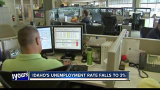 Idaho unemployment rate falls to 3% - Video