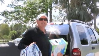 Firefighter gathering supplies for St. Croix - Video
