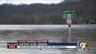Ohio River water level rising