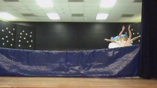 Hilarious Boys Pretend To Be Synchronized Swimmers On Stage - Video