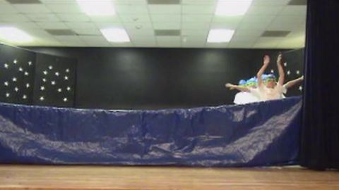 Hilarious Boys Pretend To Be Synchronized Swimmers On Stage