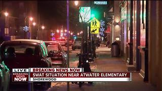 SWAT situation near Atwater Elementary in Shorewood - Video