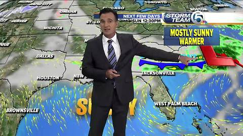 Saturday 6pm weathercast