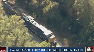 Toddler hit by train dies from injuries - Video