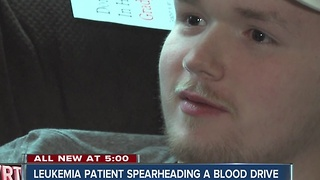 Leukemia patient spearheads blood drive - Video