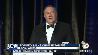 Secretary of State Mike Pompeo talks Chinese tariffs