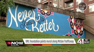 Mural encouraging Kansas Citians to give back - Video