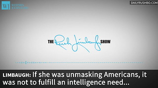Limbaugh: The Only Government To Meddle In The Election Was Ours - Video