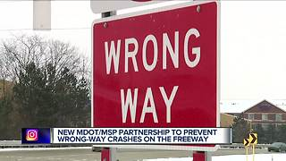 New MDOT/MSP partnership to prevent wrong-way crashes on the freeway - Video