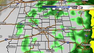 Rain timing tomorrow. - Video