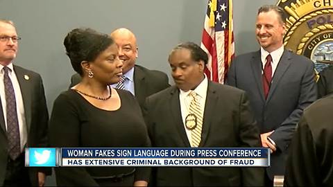 Phony sign language interpreter used at Seminole Heights killer arrest press conference