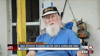 Man without running water since hurricane irma