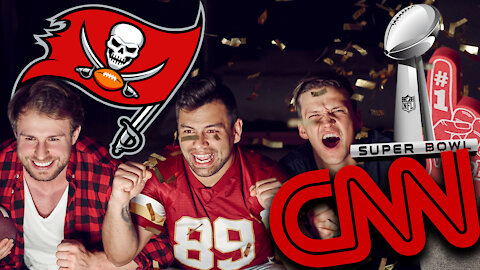 CNN Reporter Wearing Two Masks Flips Out Over Super Bowl Fans In Tampa Enjoying Themselves | Ep 135
