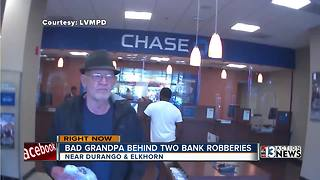 Elderly bank robber may be desperate - Video