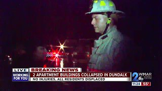 Residents displaced after apartment building roofs collapse in Dundalk