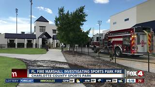 Fire under investigation at Charlotte County Sports Park