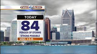 Strong storms possible - Video