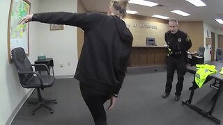 Body cam: woman fails sobriety test after passing out and crashing into mailbox