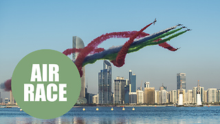 Stunning air trail from first round of the Red Bull Air Race in Abu Dhabi - Video