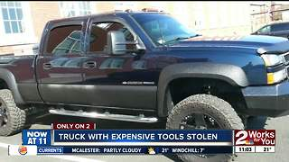 Truck with expensive tools stolen - Video