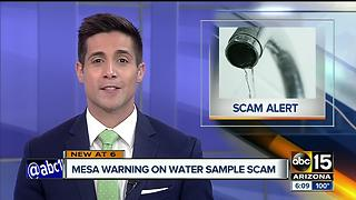 Mesa officials warning residents of water scam - Video
