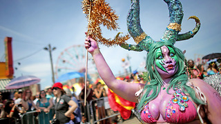 The Coney Island Mermaid Parade - Video