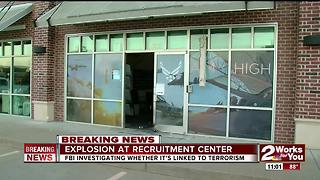 FBI investigating explosion at Bixby Air Force Recruitment Center - Video