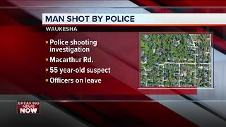 55-year-old man shot, wounded by Waukesha Police after pursuit - Video