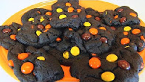 Betty's Reese's Pieces chocolate cookies