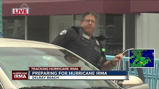 Delray police enforcing curfew ahead of Irma - Video