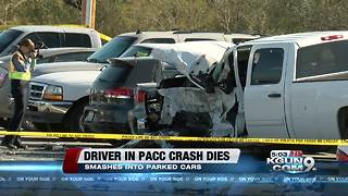 Speeding driver dies, after hitting several vehicles near PACC - Video