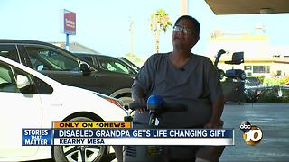 Disabled grandfather gets life changing gift - Video