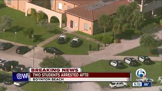 Student found with gun at Boynton Beach High School, 2 students arrested