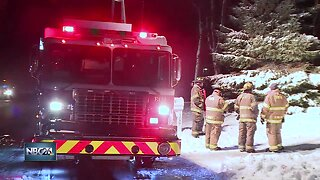 One woman sent to hospital after a house fire in Shawano