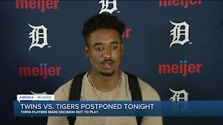 Twins-Tigers postponed after teams vote not to play