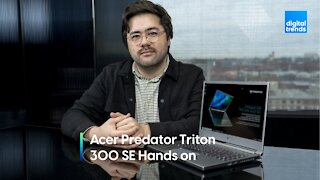 Acer Predator Triton 300 SE Hands-on at CES 2021 | How powerful is it?