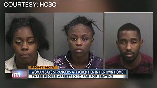 Woman attacked by strangers in her own home