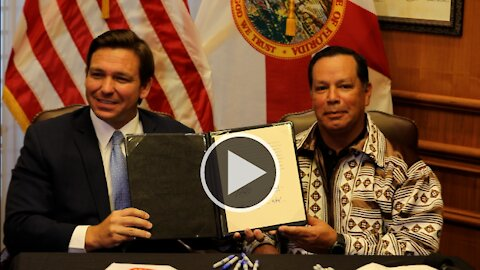 Governor Ron DeSantis Strikes Historic Gaming Compact with Seminole Tribe of Florida 4/23/21