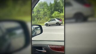 Driver jumps out of moving car during police chase in Cleveland