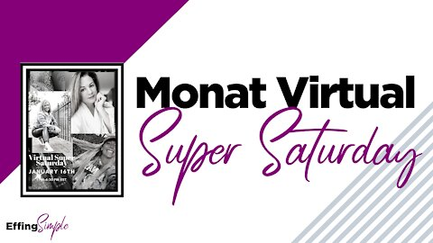 MONAT Virtual Super Saturday - January 2021