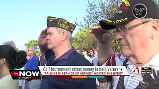 Golf tournament raises money to help vets - Video