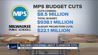 Teachers protest Milwaukee Public Schools budget cuts - Video