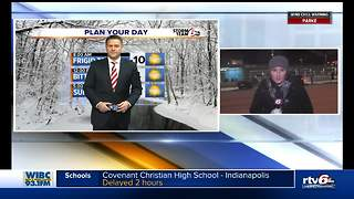 Cold weather causing delays and school closures - Video