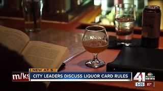 City leaders consider eliminating liquor cards - Video