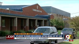 Middle schooler recovering after being hit by car - Video