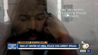 Exclusive: man taken down by police K9 confesses to crimes