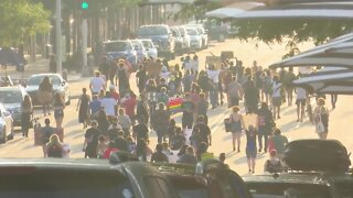 People in Appleton gather to protest over Jacob Blake